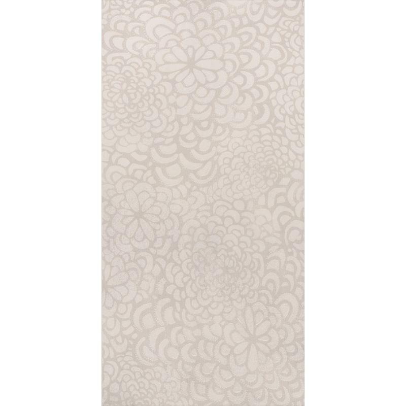 30x60 Bloom Beyaz Dekor Mat