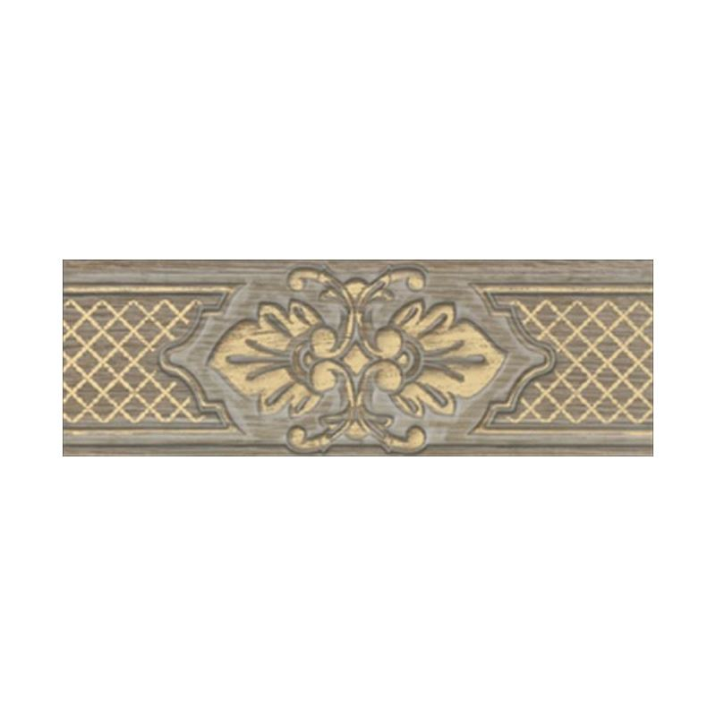 11x33 Provence Grej -Altın Bordür Mat