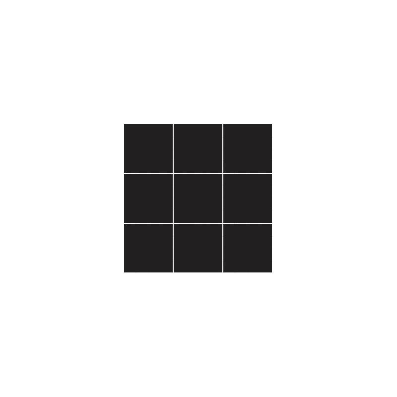 10x10 Miniworx RAL 0001500 Siyah Mozaik Parlak