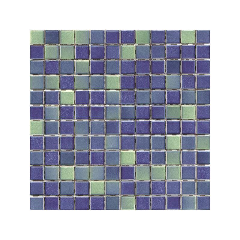 2.5x2.5 Colorline Koyu Mavi - Yeşil Mozaik Parlak